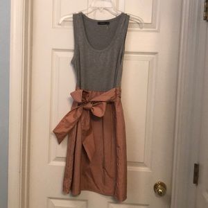 THEME Pink and Grey Dress